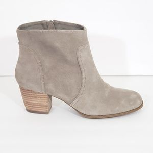 Sole Society Women's Tan Gray Suede Ankle Boots